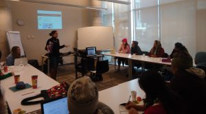 UofT Urban Studies students delivery workshop on technology to Academic Upgrading learners