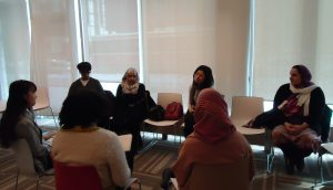 UofT Urban Studies students interview Regent Park Catering Collective members to help develop content for the Collective's website